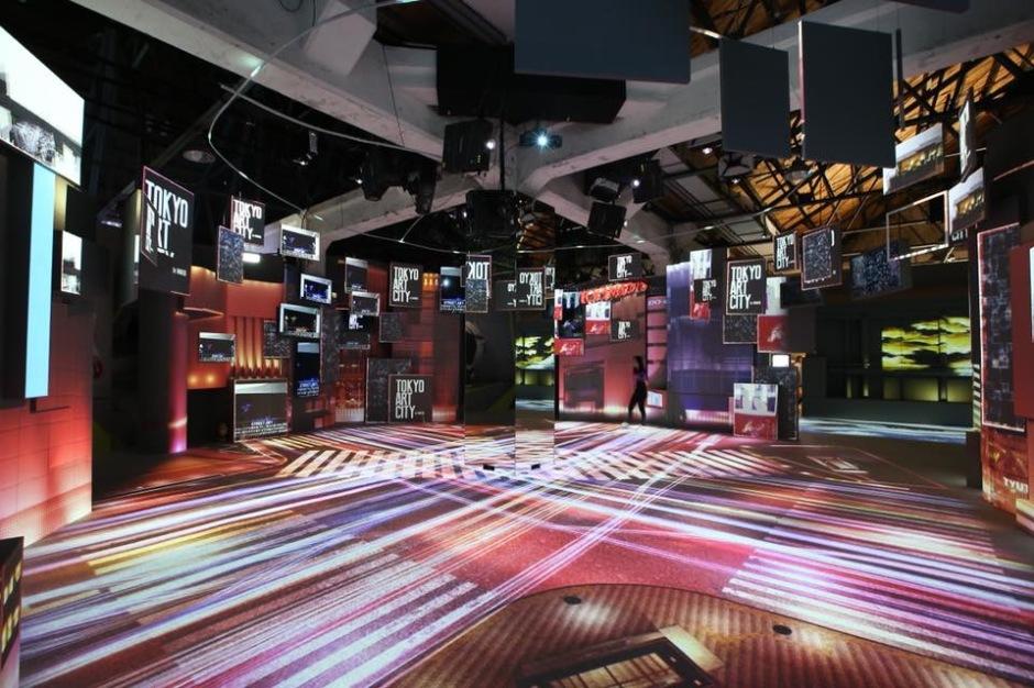 光影東京光雕展,涉谷區十字路口