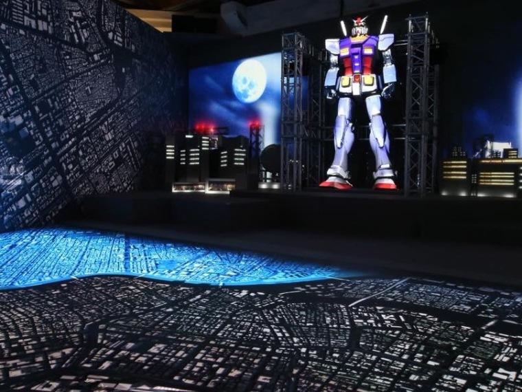 光影東京光雕展,台場區鋼彈