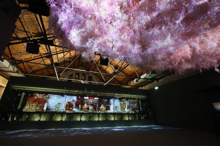 光影東京光雕展,上野區櫻花