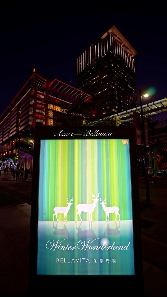 Bellavita 2018 聖誕節裝置藝術-冬季奇境-白色麋鹿