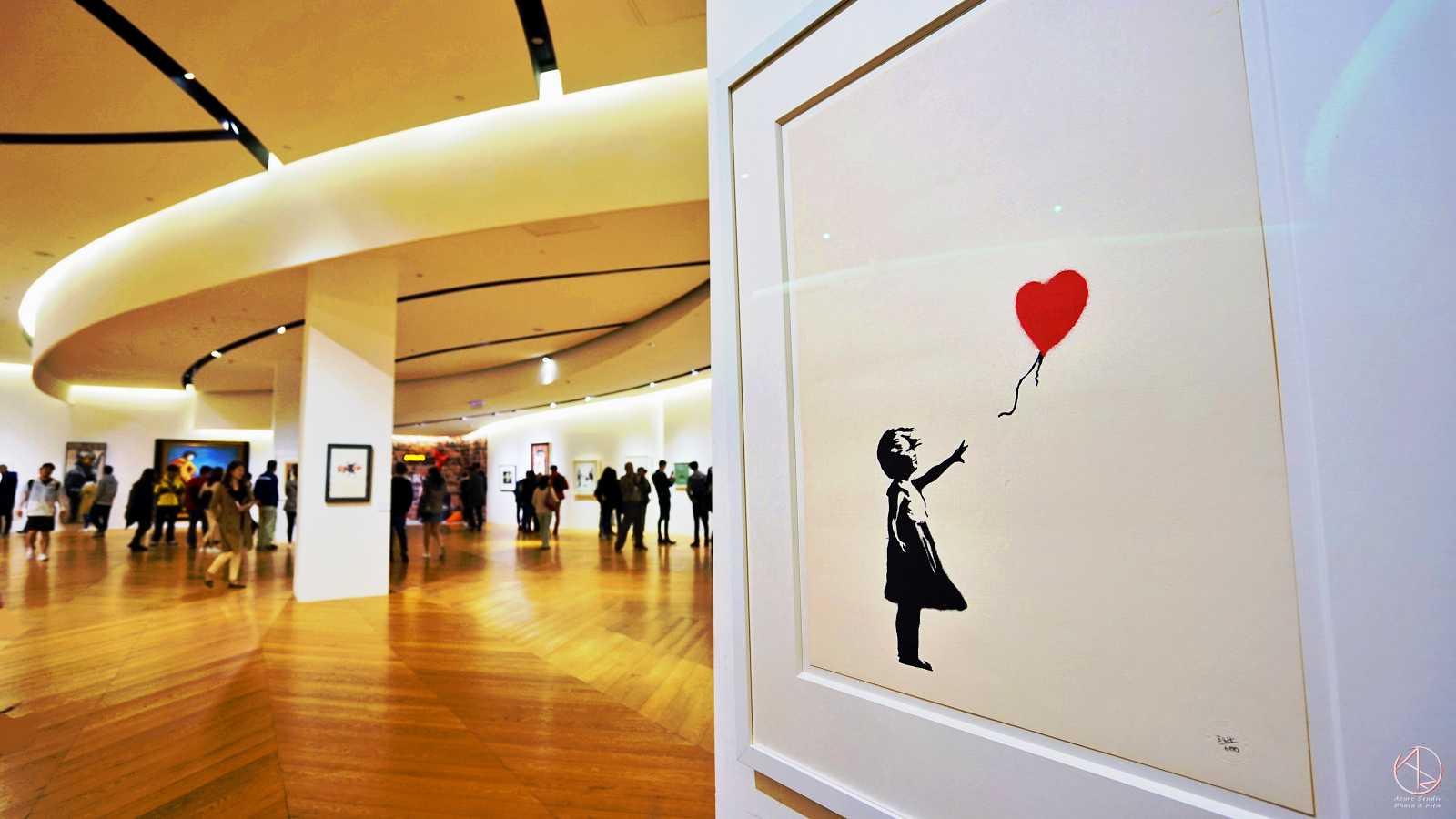 Banksy in Taipei 台北Bellavita班克斯展,手持氣球的女孩