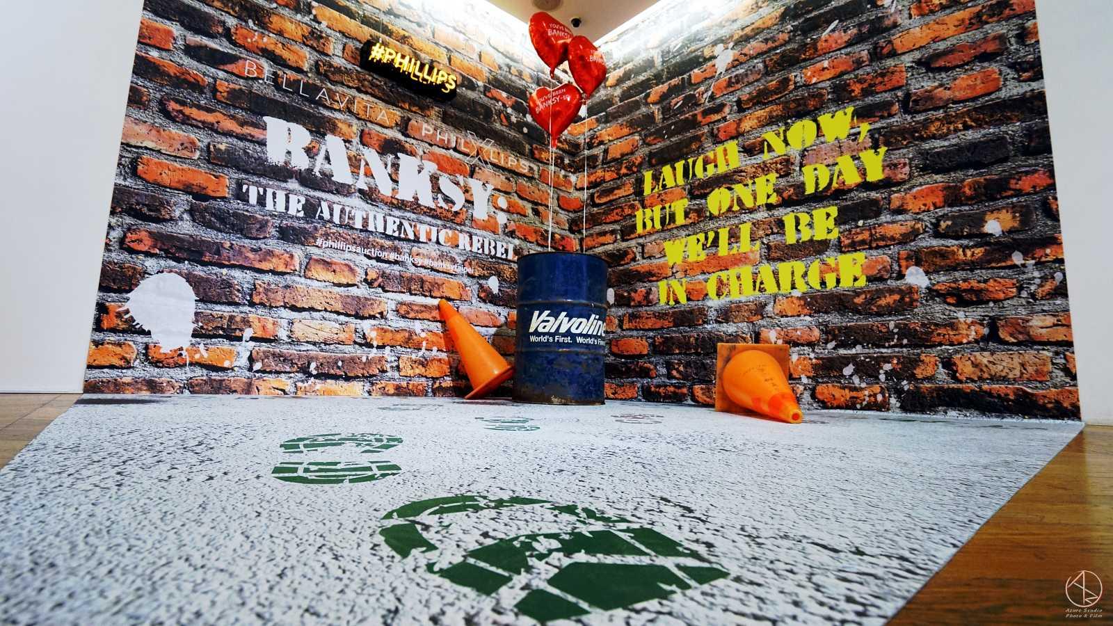 Banksy in Taipei 台北Bellavita貴婦百貨班克斯展,網美拍照打卡區